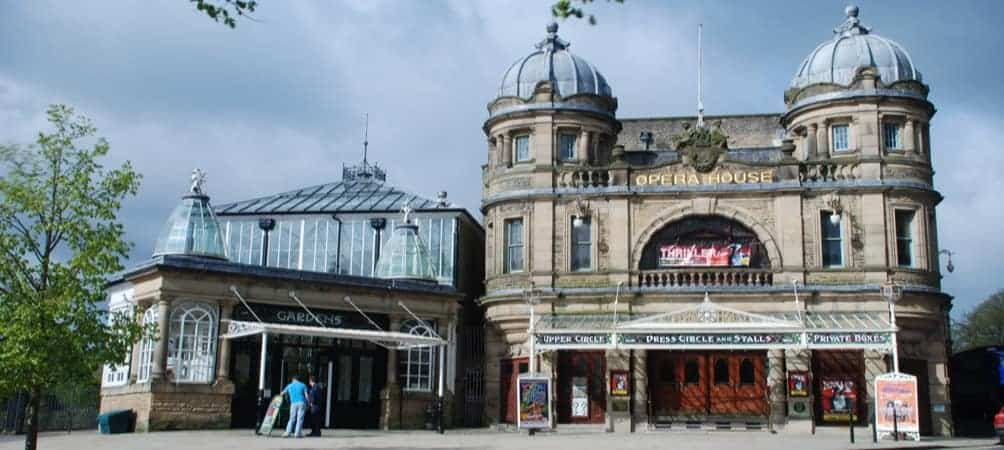 Buxton Opera House near the Portland Hotel