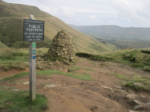 Pennine Way Edale from Kinder Scout Peak District