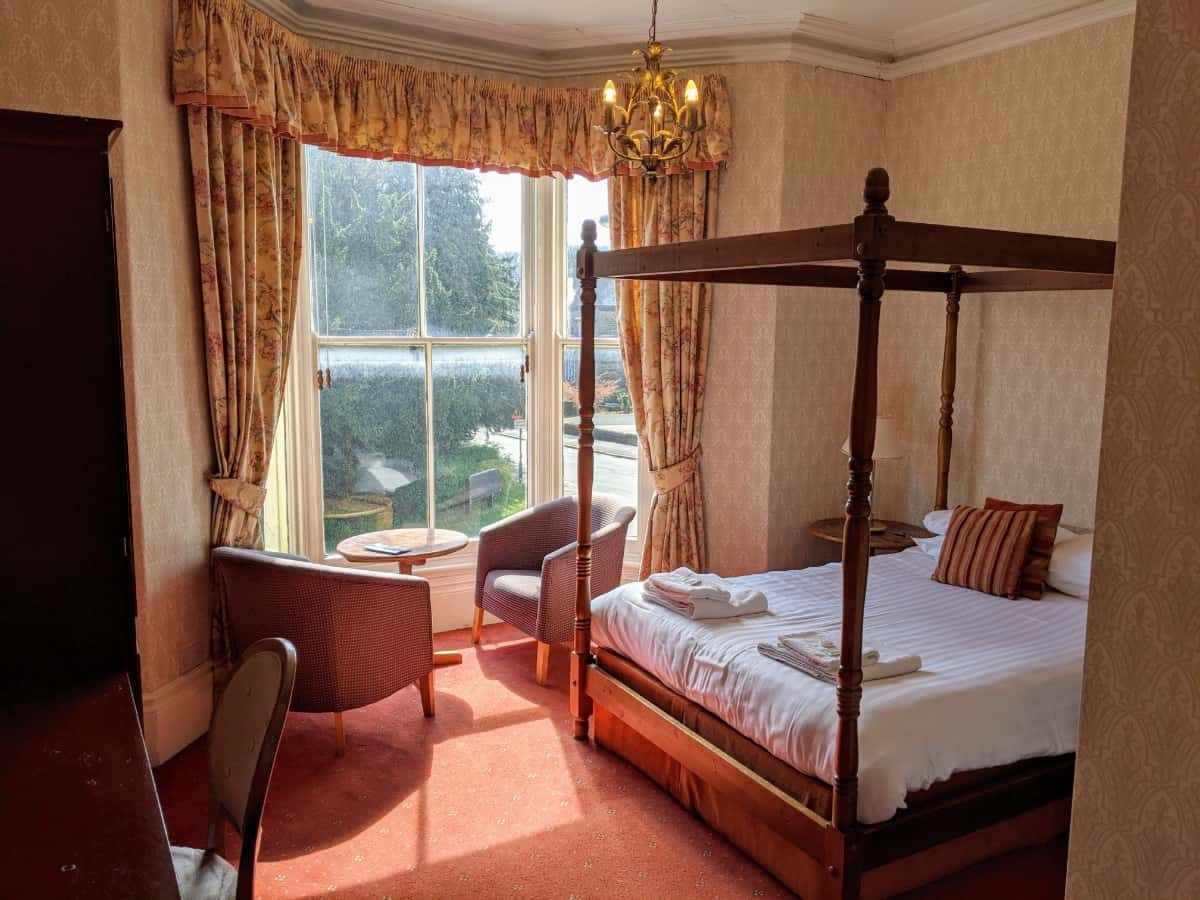 Four Poster room Portland Hotel Buxton