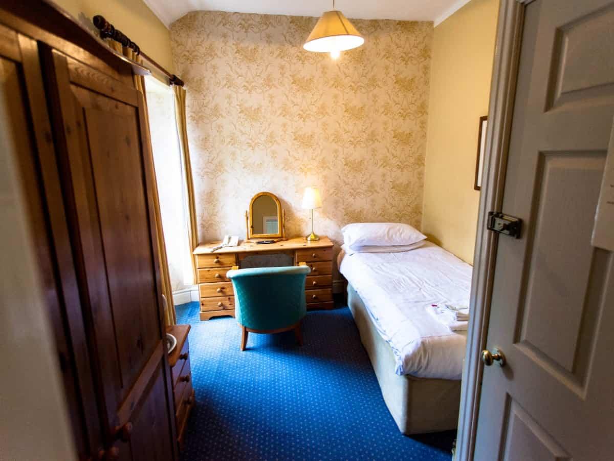 Single room Portland Hotel Buxton